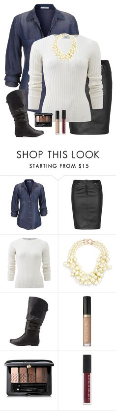"""""""Ootd"""" by mary-grace-see ❤ liked on Polyvore featuring maurices, Zhenzi, Allude, Kenneth Jay Lane, Wild Diva and Guerlain"""