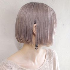 Short Platinum Blonde Hair, Japanese Short Hair, Bob Hair Color, Hair Arrange, Lilac Hair, Asian Hair, Girl Short Hair, Grunge Hair, Love Hair