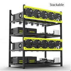 GPU Mining Rig Aluminum Stackable Case Open Air Frame - Ethereum Mining Rig - Ideas of Ethereum Mining Rig - GPU Mining Rig Aluminum Stackable Case Open Air Frame Bitcoin Mining Software, Bitcoin Mining Rigs, What Is Bitcoin Mining, Bitcoin Miner, Bitcoin Hack, Buy Bitcoin, Bitcoin Account, Bitcoin Litecoin, Investing In Cryptocurrency