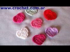 Mini Corazón en Tejido Crochet