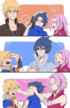 Team 7, messing around with their older selves :3 ~ ♥
