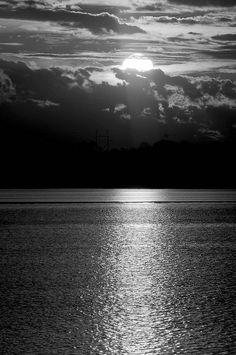 Sunsets reflexion bw | Flickr - Photo Sharing!