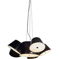 Marset Tam Tam Pendant - 5 Shades ($3,422) ❤ liked on Polyvore featuring home, lighting, ceiling lights, marset lighting, mounted lights, ceiling mount lights and marset