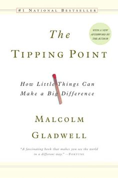 The tipping point is that magic moment when an idea, trend, or social behavior crosses a threshold, tips, and spreads like wildfire. Malcolm Gladwell explores and brilliantly illuminates the tipping point phenomenon; it's already changing the way people throughout the world think about selling products and disseminating ideas.