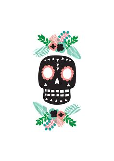 Day Of The Dead print by HelloPants on Etsy
