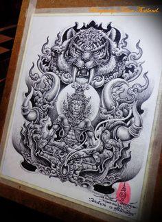 Khmer Tattoo, Yakuza Tattoo, Arm Tattoo, Tattoo Design Drawings, Tribal Tattoo Designs, Tribal Tattoos, Thailand Tattoo, Thailand Art, Dragon Tattoo Full Back