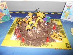 Board with caution tape for the cake!!!