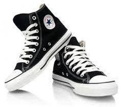 Shop Women's Converse Black size 8 Sneakers at a discounted price at Poshmark. Description: Adult Converse black + white All Star Chuck Taylor High-Top Sneakers Size Sold by lolohewitt. Converse Chuck Taylor Black, Black High Top Converse, Black High Tops, Chuck Taylor Sneakers, White Converse, Black Shoes, Outfits With Converse, Converse All Star, Converse Shoes