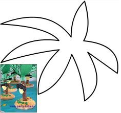 Palmboom eilanden. Nodig: Voorbeeld palmboombladeren, verkade langnekken, apenkoppen, muffinmix + ingr., glazuurstift chocola. Werkwijze: Bereid en bak de muffins volgens de beschrijving. Print de palmbladeren op groen papier en knip deze uit. Maak in het midden een kruisje, en schuif deze over de langnek (boomstam). Plak met de glazuurstift de apenkop op de langnek. Wanneer de cakejes zijn afgekoeld, maak je een gaatje erin en steek je de boomstam in het cakeje. Kids Birthday Treats, Symbols, Letters, Uni, Creative, Party, Prints, Pirates, Letter