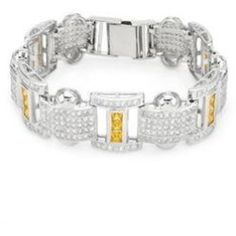 Daily Recommend - Bracelet with Cubic Zirconia .925 Sterling Silver (As Is Item)