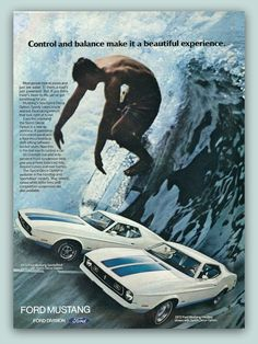Ford Mustang vintage magazine ad ephemera 1972 by catchingcanaries