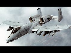 """Fairchild Republic Thunderbolt II aka """"Warthog"""" or """"Hog"""". [[MORE]]The Fairchild Republic Thunderbolt II is an American twin-engine, straight-wing jet aircraft developed by Fairchild-Republic. Military Jets, Military Aircraft, Fighter Aircraft, Fighter Jets, Air Fighter, Airplane Fighter, A10 Warthog, Photo Avion, Close Air Support"""