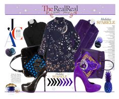 """Shine bright with The RealReal"" by madlenbellucci ❤ liked on Polyvore featuring Lucien Pellat-Finet, Yves Saint Laurent, Gucci, Acne Studios, Hermès, Versace, Valentino, Alexander McQueen, Eddie Borgo and Lime Crime"