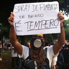 Manifestante durante protestos pelo Brasil. 20/06/2013.