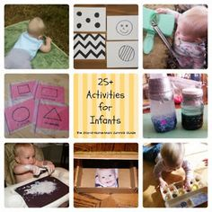Some great, easy ideas for ways to teach babies skills using household items AND keep them entertained