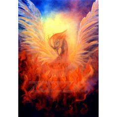 Phoenix Rising Art Print on Canvas  Marina Petro