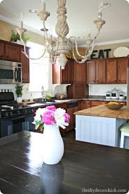 White beadboard backsplash for kitchen Kitchen Cabinets To Ceiling, Backsplash With Dark Cabinets, Beadboard Backsplash, Red Cabinets, Grey Backsplash, Maple Cabinets, Backsplash Ideas, Cupboards, White Diy Kitchens
