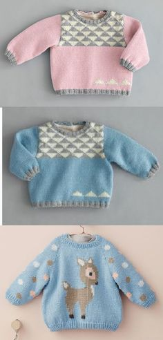 Free Childrens Knitting Patterns, Knitting For Kids, Pull Jacquard, Big Yarn, Knit Baby Sweaters, Pulls, Color Combos, Mantel, Free Pattern