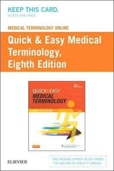 Medical Terminology Online for Quick & Easy Medical Terminology