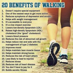 20 Amazing Benefits of Walking! Walking For Health, For Your Health, Health And Wellness, At Home Workout Plan, At Home Workouts, Benefits Of Walking, Weigh Loss, Yoga Moves, Depression Symptoms