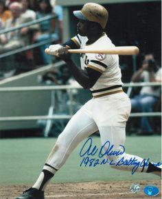"AAA Sports Memorabilia LLC - Al Oliver Pittsburgh Pirates Autographed 8x10 Photo Inscribed ""1982 NL Batting Champ"" -Swing-, $24.95 (http://www.aaasportsmemorabilia.com/mlb/pittsburgh-pirates/al-oliver-pittsburgh-pirates-autographed-8x10-photo-inscribed-1982-nl-batting-champ-swing/)"