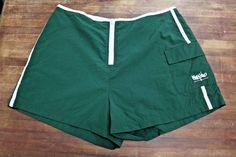 NWT Mossimo Swim Trunks Shorts Green & White Large Womens #Mossimo #SwimShorts