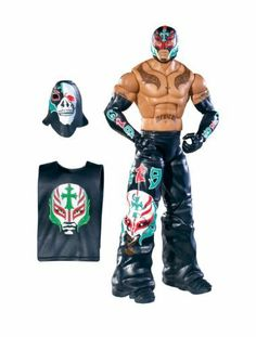 """WWE Collector Elite Rey Mysterio Figure - Series 11 by Mattel. $19.99. Features deluxe articulation, amazing detail, and authentic accessories. Perfect for WWE fans and collectors of all ages. Bring home the officially licensed WWE action. Kids can recreate their favorite WWE matches. Elite Collection Series #11 features authentically sculpted 6"""" figure. From the Manufacturer                World Wrestling Entertainment Elite Collection Series #11: Capturing all the act..."""