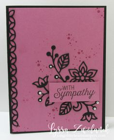 Sugarplum card stampin up song of my heart sympathy