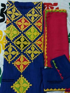 applique work designs Handmade Sindhi Dresses best designs available for sale at wholesale price Applique Dress, Embroidery Applique, Applique Patterns, Applique Designs, Sindhi Dress, Bed Cover Design, Joker Hd Wallpaper, Kurtis Tops, Indian Folk Art