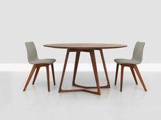 Runder Tisch aus Holz TWIST Kollektion TWIST by ZEITRAUM | Design Formstelle