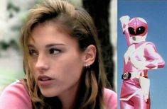 Pink Power Ranger.. I think her name was Kimberly?...