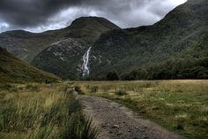 Steall Falls, Glen Nevis, Scotland, near Fort William- waterfall seen in Goblet of Fire near where Harry battled the dragon in the Triwizard Tournament