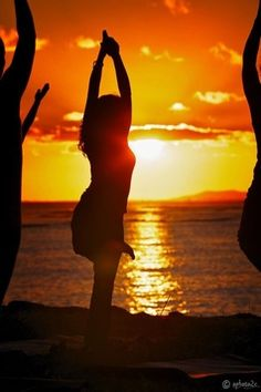 Sunset Beach Yoga  Reminds me of yoga with Petra on Miami beach  one beautiful Sunday morning.