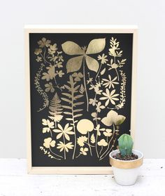 Cloud Nine Creative - Wild Florals Foil Print Gold & Copper - A4