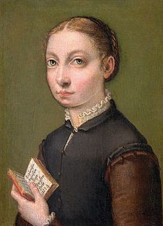 Autoportrait de Sofonisba Anguissola en 1554, Vienne, musée d'histoire de l'art
