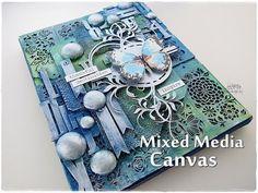 Texture Mixed Media Canvas Tutorial ♡ Maremi's Small Art ♡ - YouTube