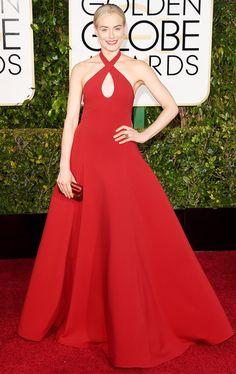 Golden Globes 2015: Red Carpet Arrivals - Taylor Schilling from #InStyle #2015goldenglobes #redcarpet