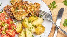 Čerstvý květák senejčastěji upravuje dvěma způsoby: jako mozeček nebo smažený vtrojobalu. Nemůžete serozhodnout, nacozezmíněného máte větší chuť? Udělejte sityhle placky. Dokonale spojují tonejlepší zobojího! Aioli, Potato Salad, Tapas, Potatoes, Vegetarian, Vegan, Chicken, Ethnic Recipes, Food