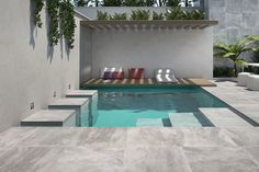 The Lounge - 10 Design-Driven Pools To Escape From Winter Woes - Photos Small Swimming Pools, Small Backyard Pools, Small Pools, Swimming Pools Backyard, Swimming Pool Designs, Pool Backyard, Backyard Ideas, Ranch Exterior, Craftsman Exterior
