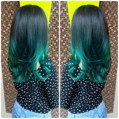 Bright Hair Colors - Page 3 of 217 Pravana Hair Color, Ombre Hair Color, Hair Color Balayage, Hair Colour, Bright Hair Colors, Fall Hair Colors, Colours, Dark Green Hair, Blue Hair