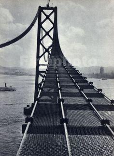 1936-Vintage-16x20-CALIFORNIA-San-Francisco-Oakland-Bay-Bridge-Photo-STACKPOLE