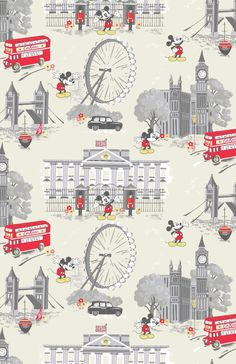 Mickey In London | Mickey pays a visit to our London hometown with a modern spin on vintage cartoons | Disney X Cath Kidston 2016 |