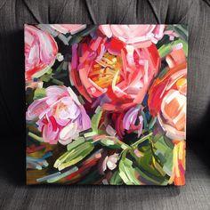 Painting flower acrylic art Ideas for 2019 Acrylic Flowers, Abstract Flowers, Plant Painting, Painting Flowers, Flower Painting Canvas, Drawing Flowers, Art Floral, Floral Flowers, Florals