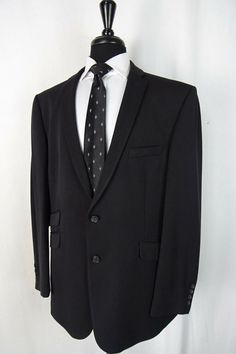 31ebe2767c7 Men s New Young s Black Tailored Fit Suit 46R W40 L31 AA1385  fashion   clothing
