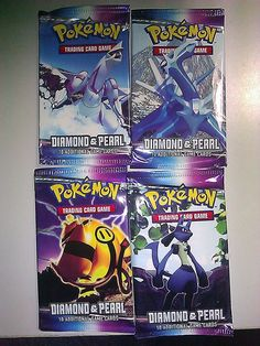 FAKE Pokemon Trading Cards DIAMOND AND PEARL FAKE 4 PACKS NEW NOVELTY FAKE CARDS