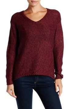 V-Neck Hi-Lo Sweater