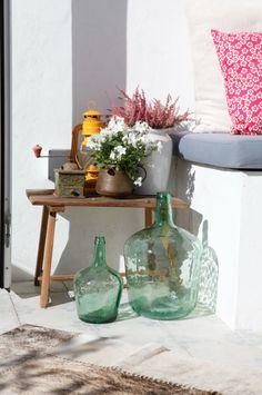 Terraza en ático con decoración vintage #terrazaplantas
