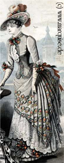 Late 1880's - I love all of the detail in this. I am hoping to find a way to do something this ornate. We shall see!