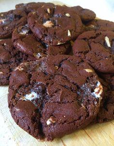 Kladdiga american cookies