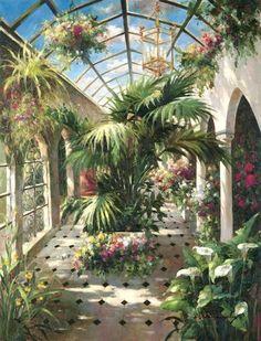 Garden Atrium Ll by Vera Oxley